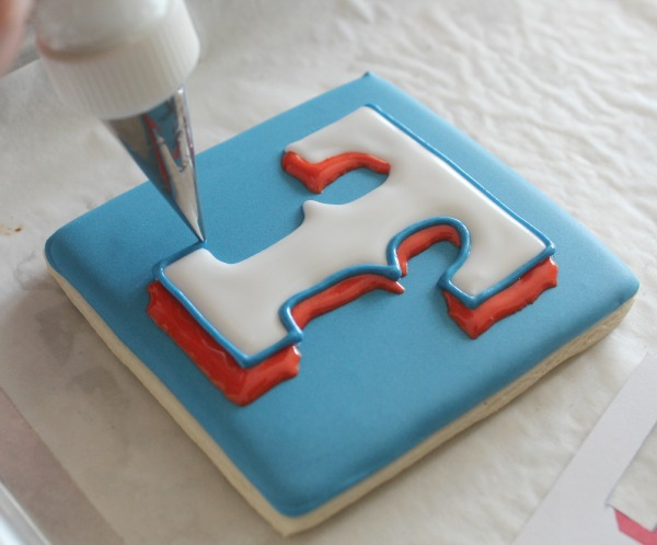 Texas Rangers Logo Cookie 6
