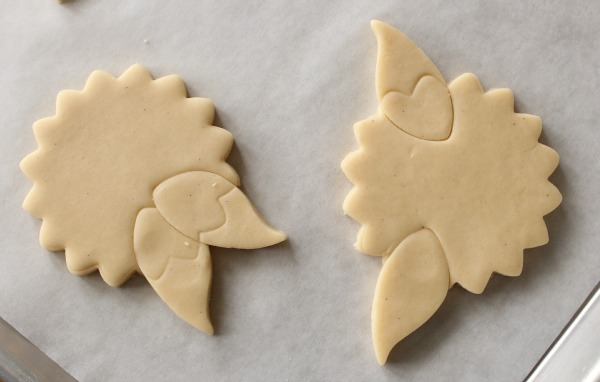 flower with leaves cookie 3