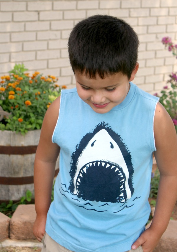 Caleb Shark Shirt