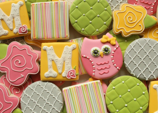 Quilted Owl Cookies