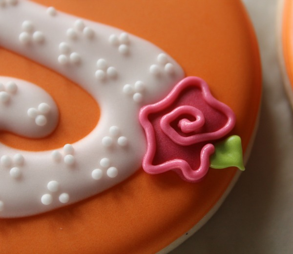 Rose Monogram Cookie 6