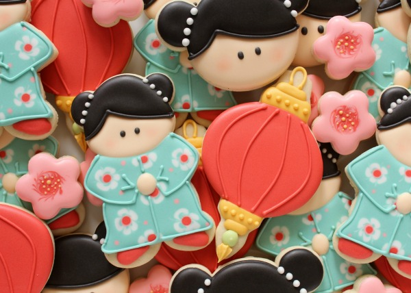 China Doll Cookies Close Up