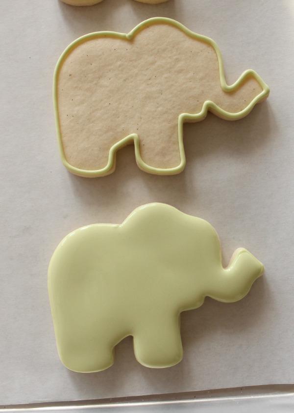 Decorated Elephant Cookie 1
