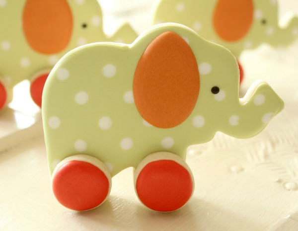 Decorated Elephant Cookies