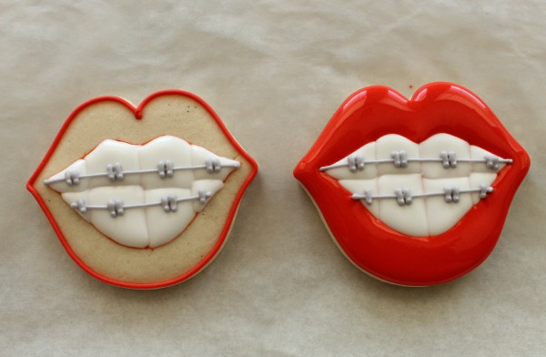 Funny Orthodontist Braces Cookies