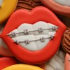 Lips with Braces Cookies