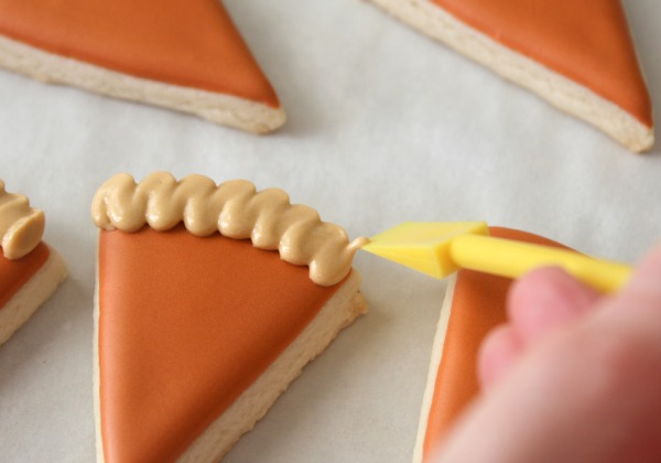 Decorated Pumpkin Pie cookies