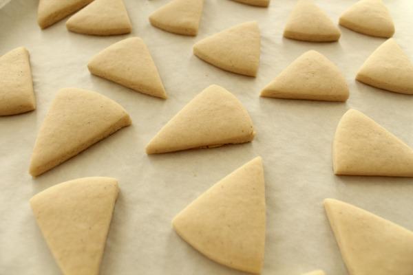 Mini-Pumpkin Pie Slice Cookies