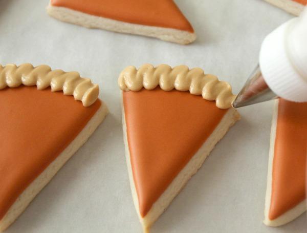 Mini pie slice cookies SweetSugarBelle