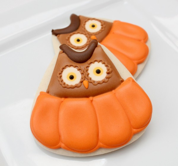 Owl in Pumpkin Cookies