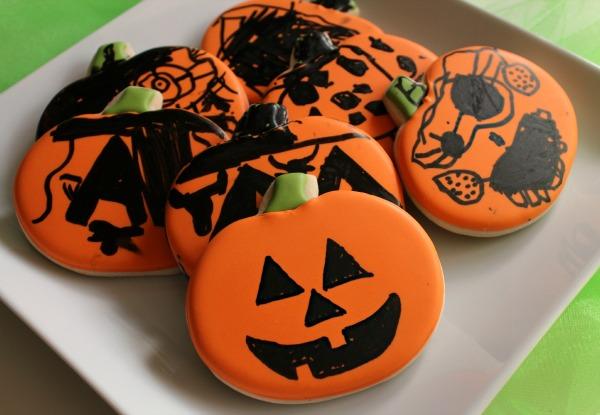 Simple-Jack-O-Lanterns Cookies for Kids