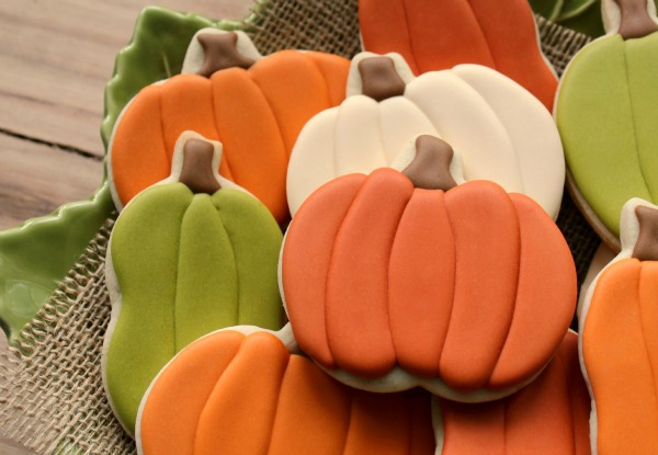 Uniquely Shaped Pumpkin Cookies