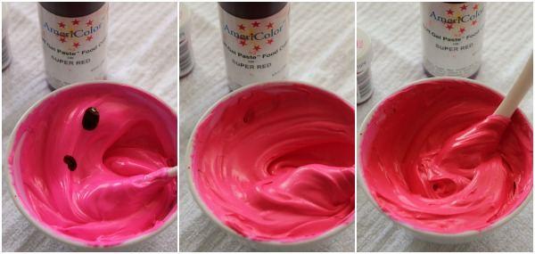 Deep Pink Icing Color