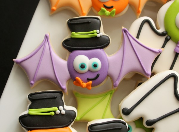 Hat with Bat Cookie
