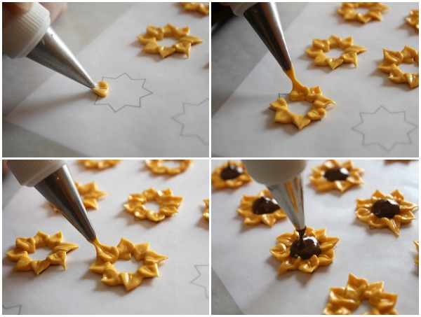 How to Make Royal Icing Sunflowers via sweetsugarbelle.com