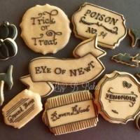 Potion Label Cookies via Lizy B Bakes