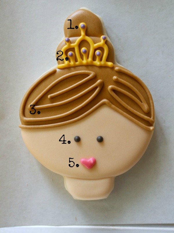 Princess Face Cookie 5