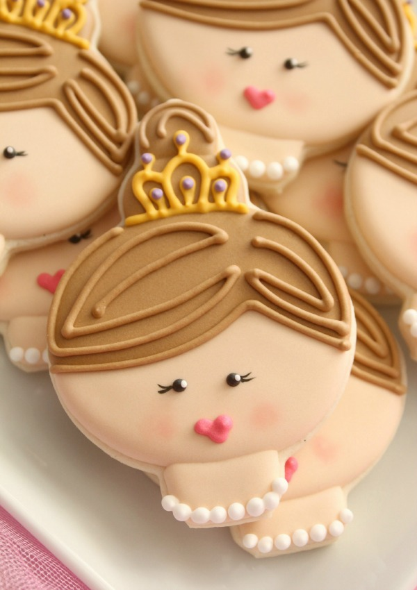 Princess Face Cookie Close Up