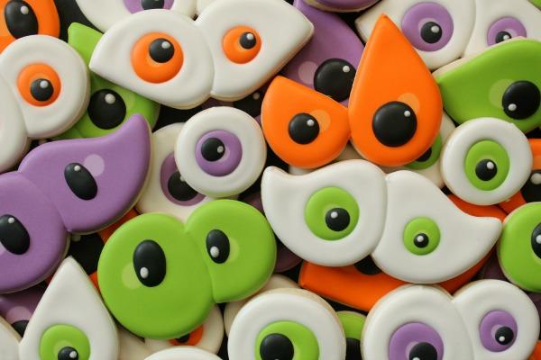 Silly Eyeball Cookies