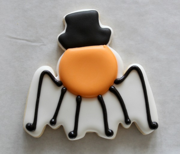 Silly Spider Cookie Tutorial 4