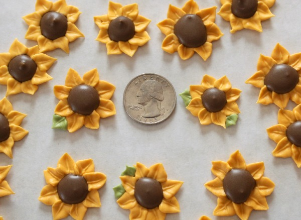 Sunflower Royal Icing Transfers