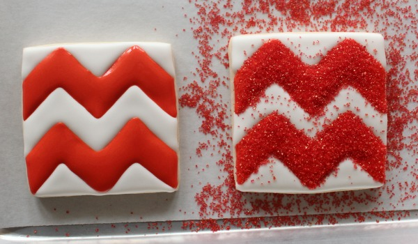 Chevron Print Cookie 4