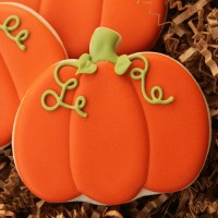 Decorated Pumpkin Cookie