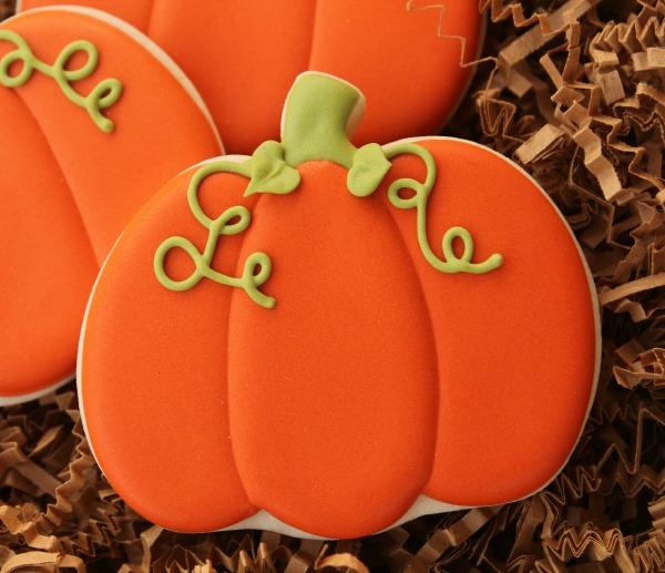 Decorated Pumpkin Cookie