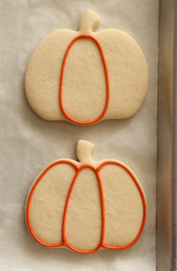 Decorated Pumpkin Cookies 1