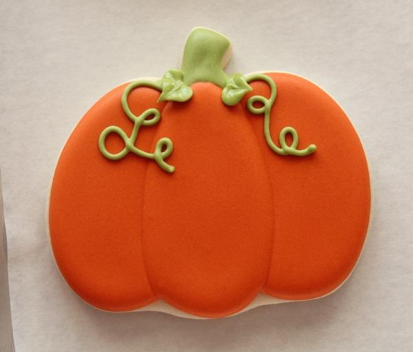Decorated Pumpkin Cookies 3