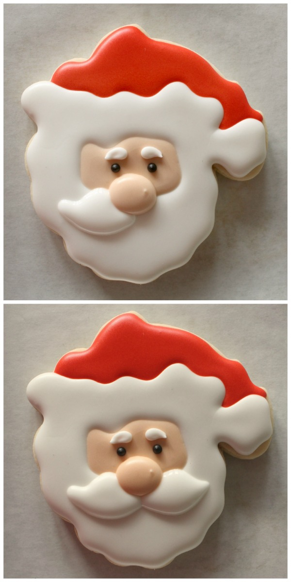 Decorated Santa Cookie 3