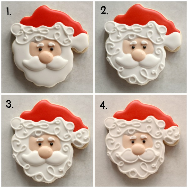 Decorated Santa Cookie 4