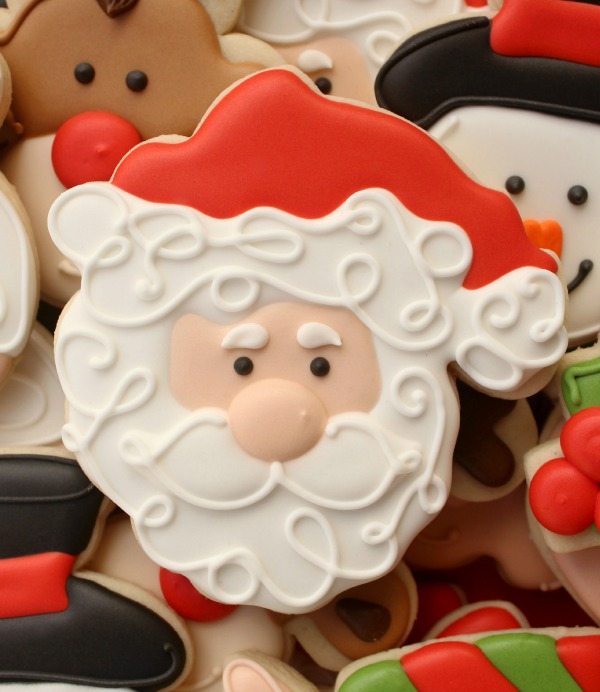 Decorated Santa Cookie