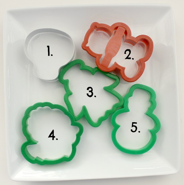 Santa, Mrs. Claus, Rudolph, Elf and Snowman Cookie Cutters