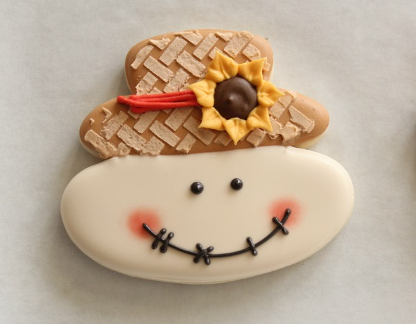 Scarecrow Face Cookie 6