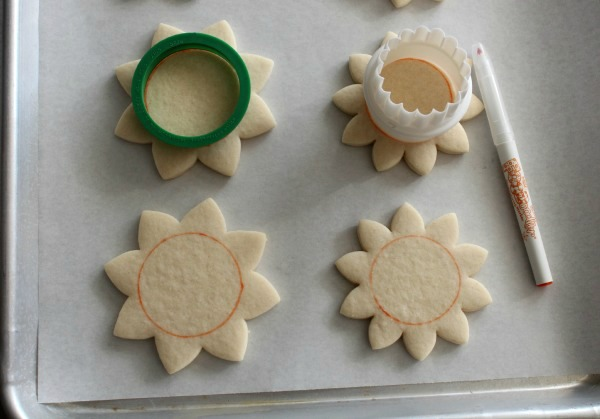 Sunflower Cookies 1
