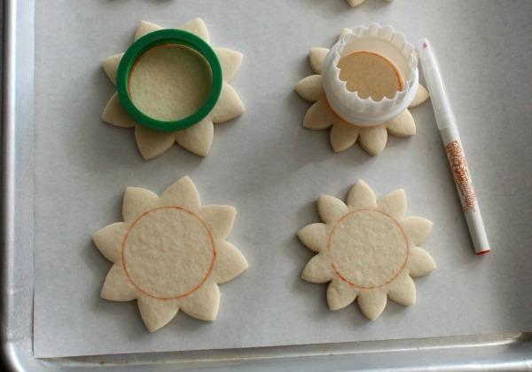 Sunflower Cookies 1