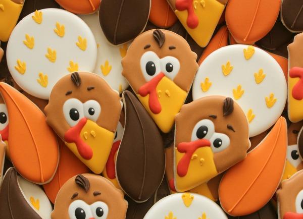 Turkey Cookie Close Up