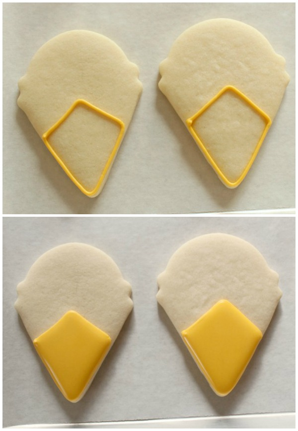 Turkey Face Cookies Outline