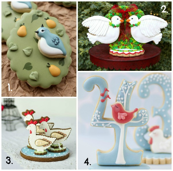Twelve Days of Christmas Cookie Project 1-4