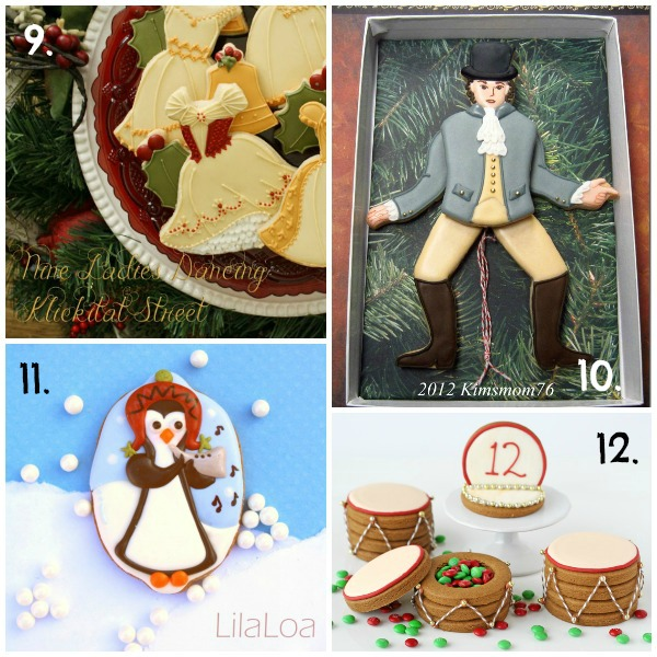 Twelve Days of Christmas Cookie Project 9-12