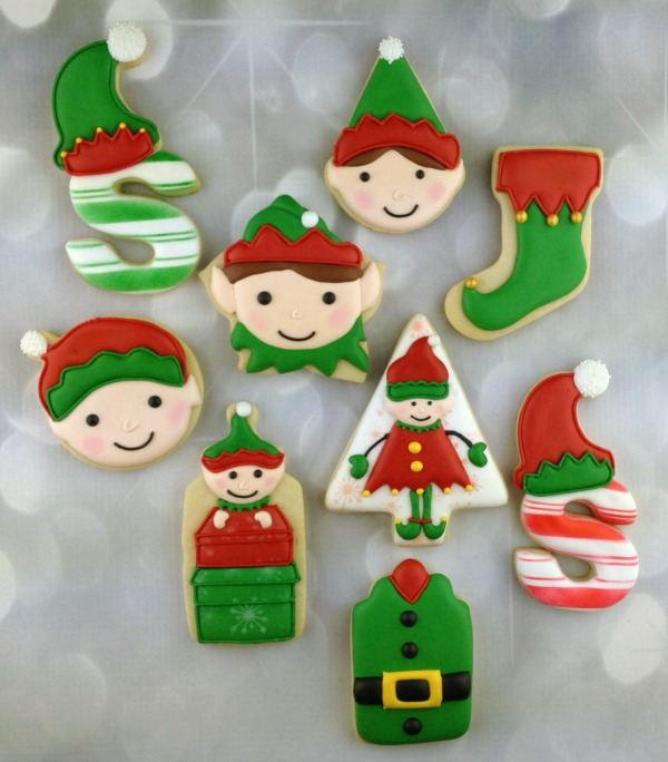 Decorated Elf Cookies With Artfully Delicious The