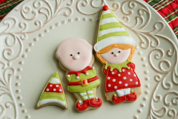 Boy And Girl Elf Cookies With Color Me Cookie The