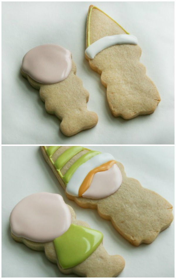 Elf Boy and Girl Cookies by Color Me Cookie