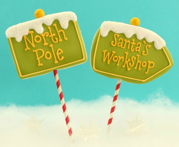 North Pole Cookie Pops Sweetsugarbelle.com