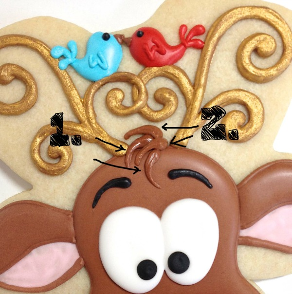 Reindeer Cookies Cookies with Character 12