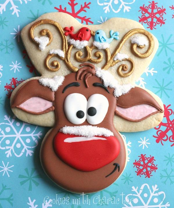 Reindeer Cookies Cookies with Character 15