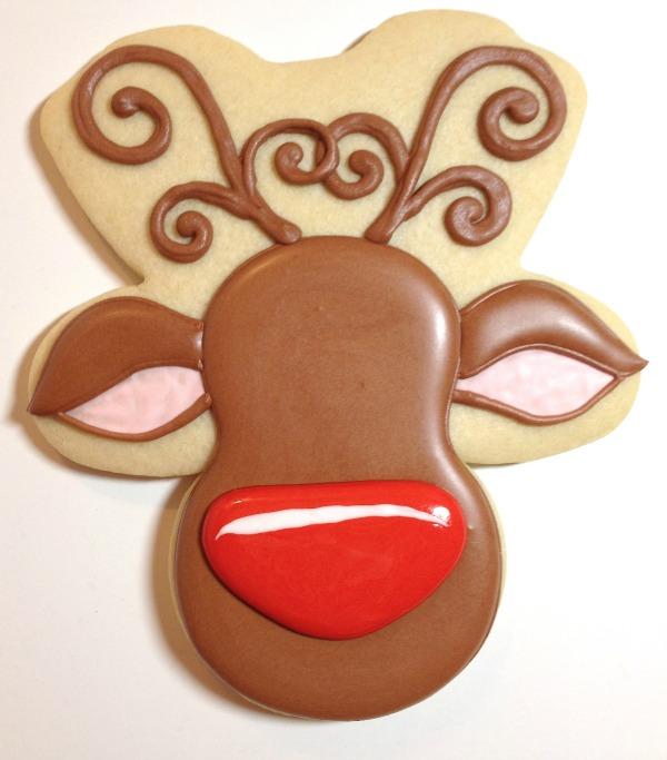 Reindeer Cookies Cookies with Character 7