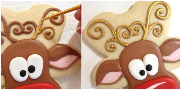 Reindeer Cookies Cookies with Character 9