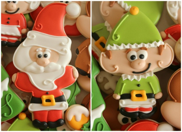 Silly Christmas Cookies Santa and Elf